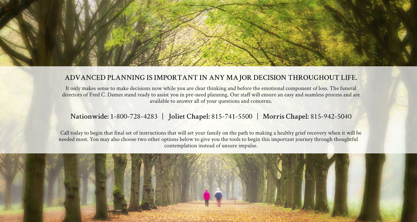 Advanced Planning | Fred C  Dames Funeral Home and Crematory